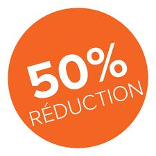 50 pourcent reduc