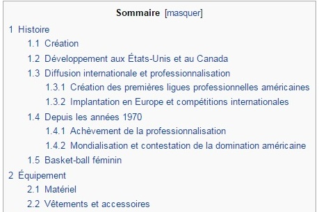 sommaire wikipedia