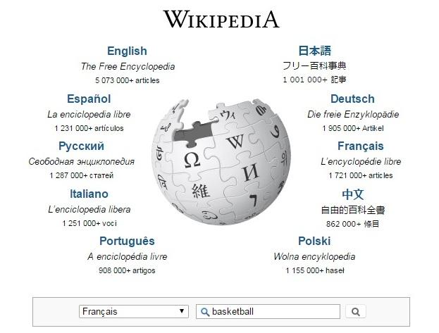 recherche de mots clés sur wikipedia