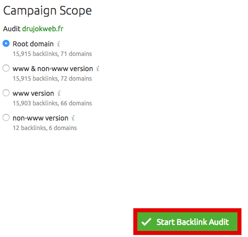 audit backlink 3 semrush