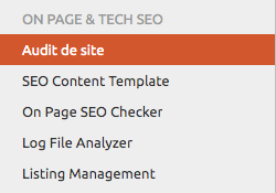audit seo semrush
