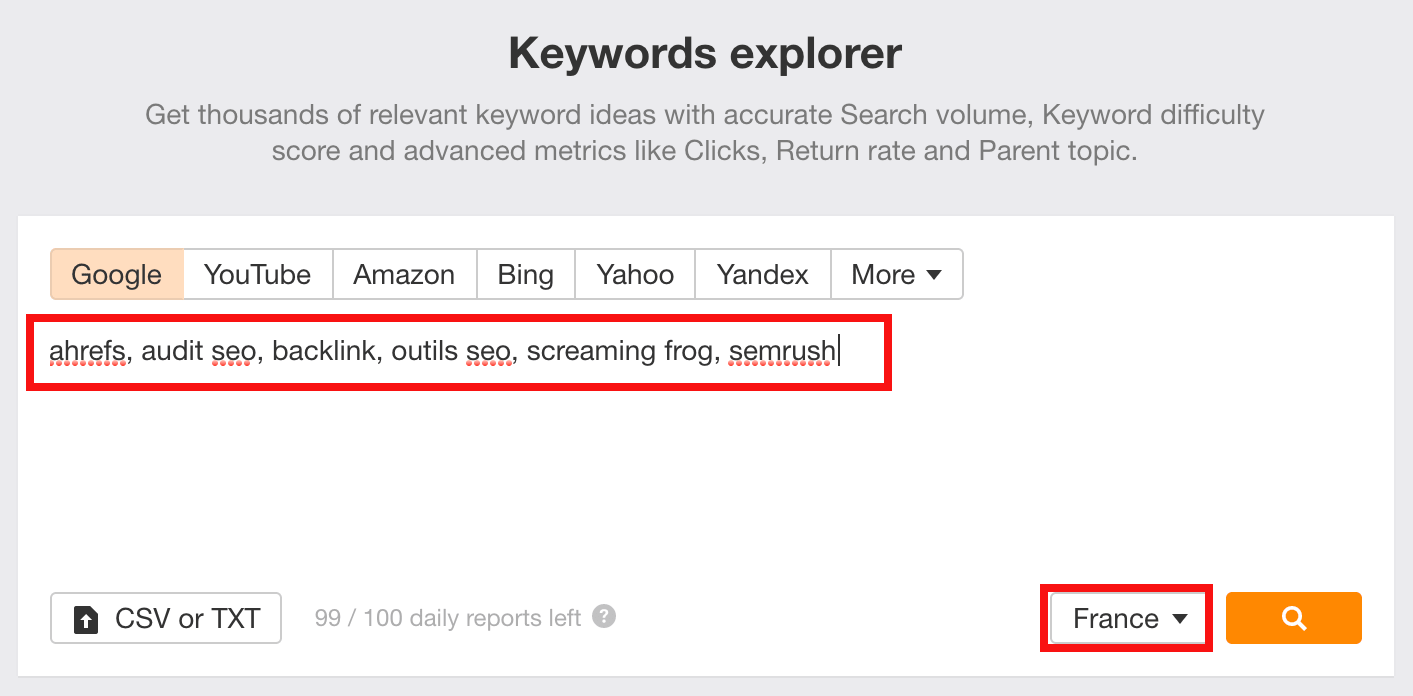 Keywords Explorer