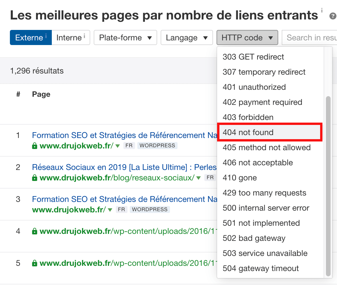 meilleures pages