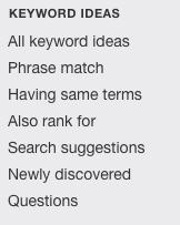 types recherches