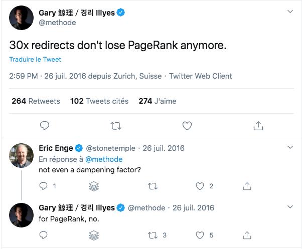 Tweet de Gary Illyes
