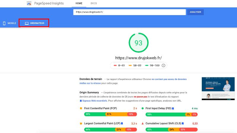 google pagespeed insights-min